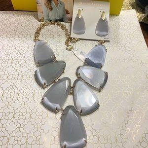 New Kendra Scott Set of Harlow Necklace +Earrings
